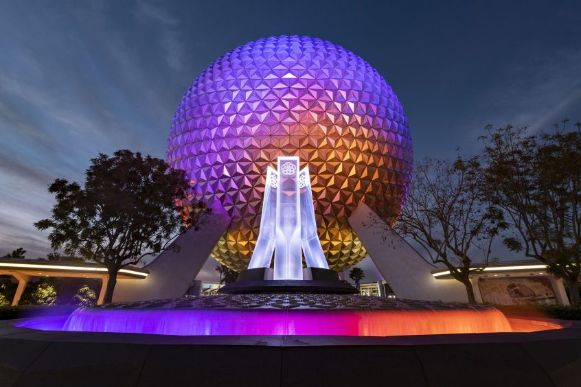 Reimagined Entrance Fountain at EPCOT